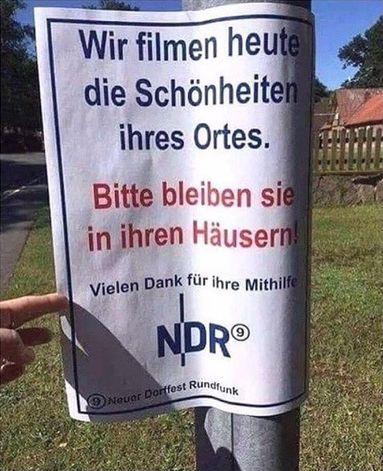 Filmaufnahmen, Plakat NDR